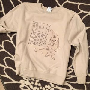 The Lonely Biscuits cream crewneck